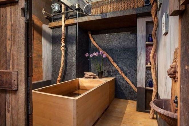 Idée décoration Salle de bain - salle de bain avec déco campagne ...