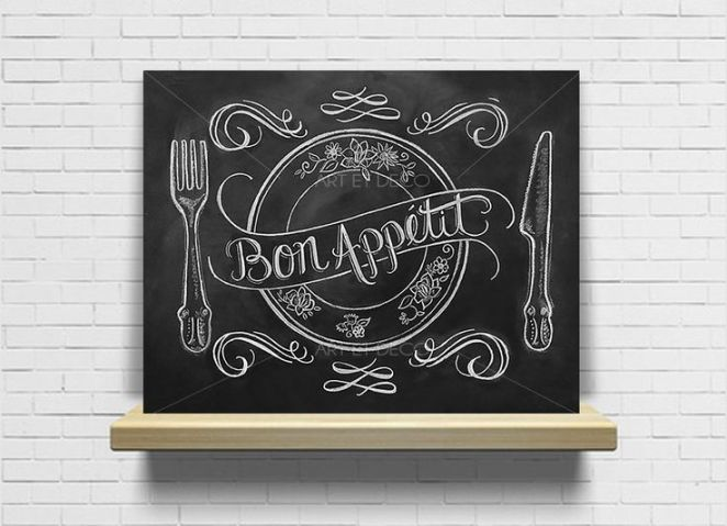 Id e relooking cuisine tableau bon app tit cuisine for Tableau craie cuisine
