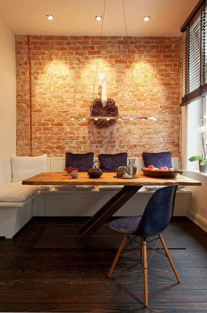 Description déco de soin de repas avec mur en brique