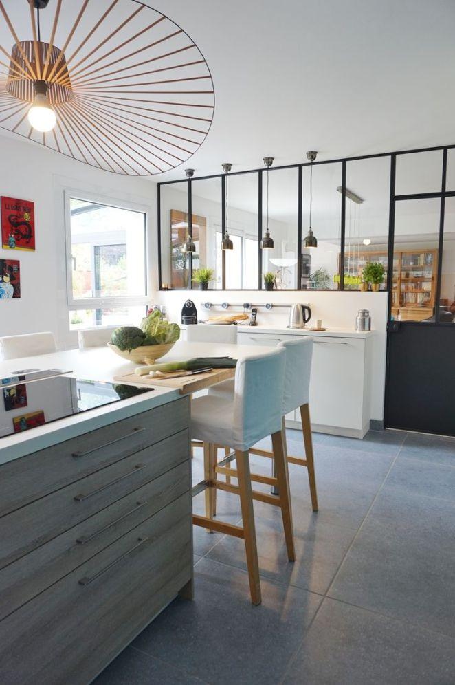 Idée relooking cuisine - Cuisine bar avec verrière aménagée par l ...