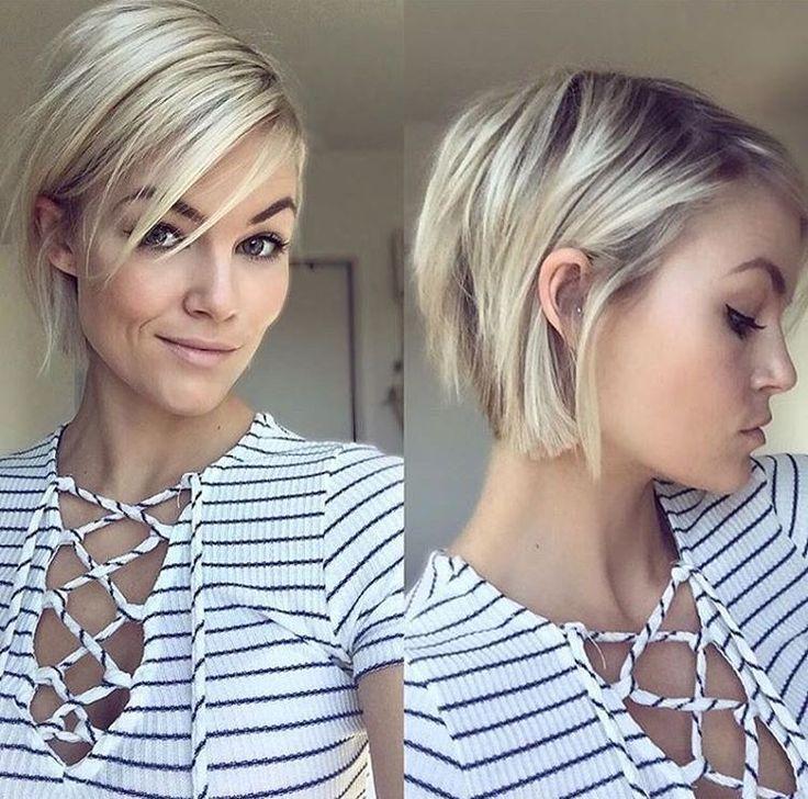 Les coupes des cheveux 2018 femme coiffures la mode de cette saison - Coupe courte blonde 2017 ...
