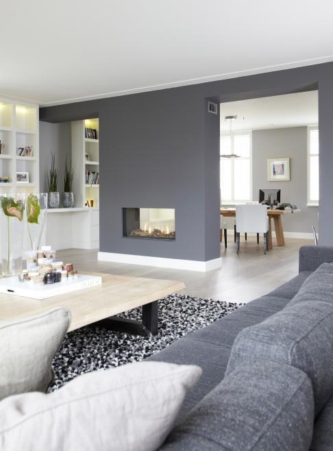 Déco Salon - Blanc et gris - cheminee double foyer... - ListSpirit ...