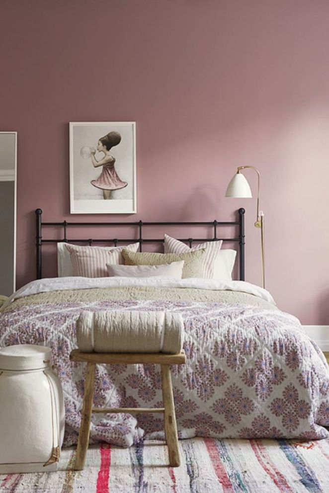 d co salon couleur peinture chambre rose poudr. Black Bedroom Furniture Sets. Home Design Ideas