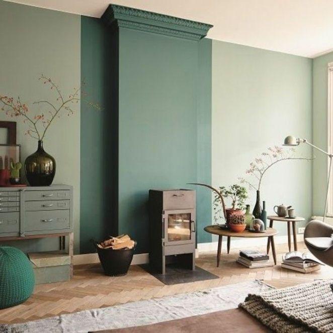 D Co Salon Jolie Idee Deco Salon Sol En Parquet Clair Cheminee D Interieur Design Chic T