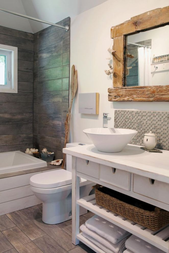 Idée décoration Salle de bain - 10- salle de bains avec céramique ...