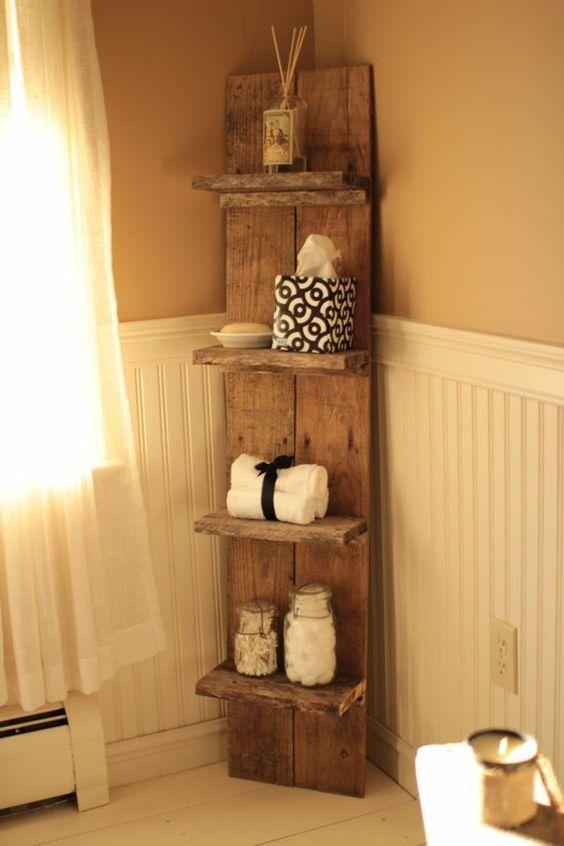 Etagere en bois de palette etagere en bois de palette - Etagere salle de bain bois ...