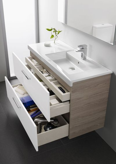 Idée décoration Salle de bain - Meuble salle bain bois, design ...