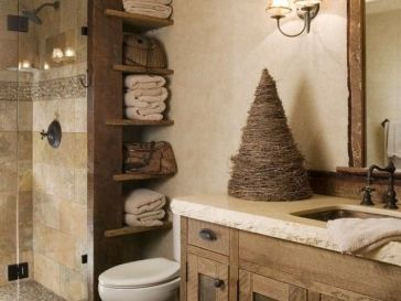 Id e d coration salle de bain salle de bain rustique for Deco salle de bain rustique