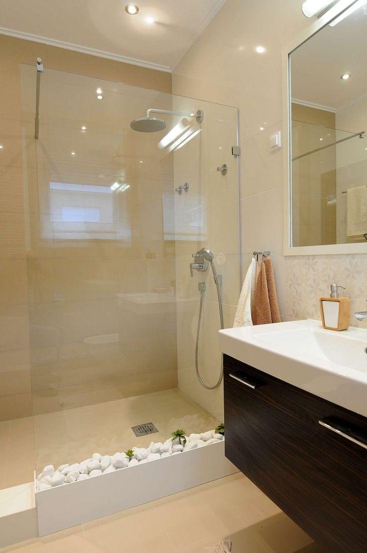 idée décoration salle de bain - petite salle de bains avec un ... - Salle De Bain Carrelage Beige