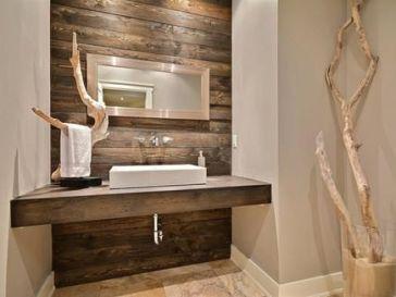 Id e d coration salle de bain etag re en bois flott 2 for Salle de bain en bois flotte