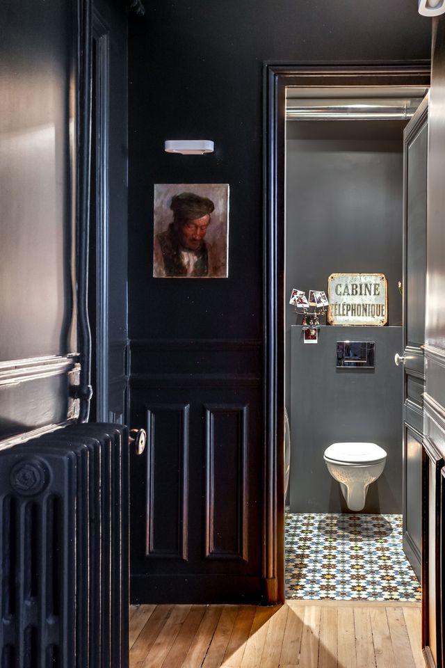 Idée décoration Salle de bain - Toilette lookée dans le couloir ...