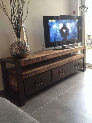 Relooking et d coration 2017 2018 meuble tv industriel for Meuble 2018