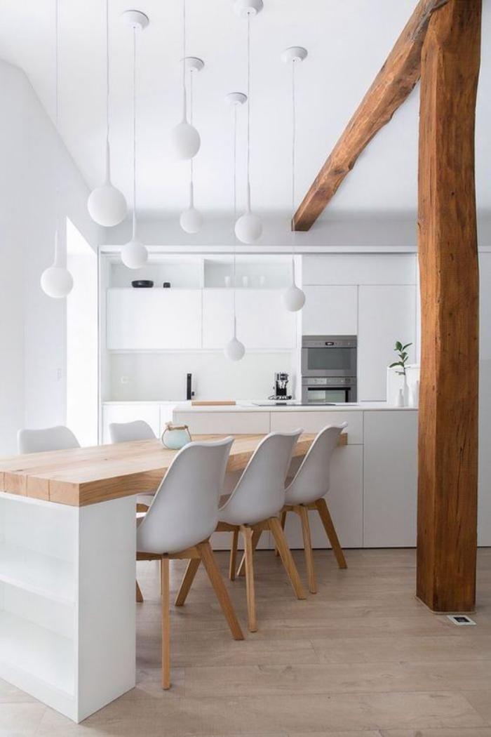 Cuisine Bois Et Blanc. Idee Deco Pour Cuisine Blanche Rutistica Home ...
