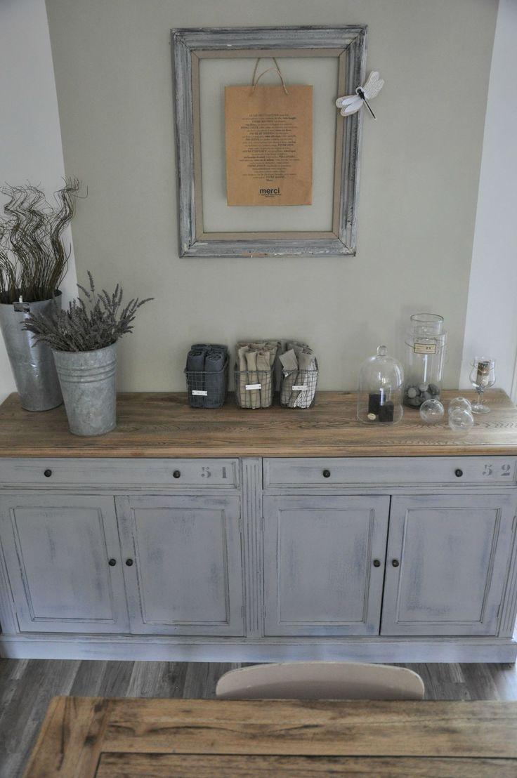 D co salon style de buffet que je recherche pour utilis for Meuble repeint en gris perle