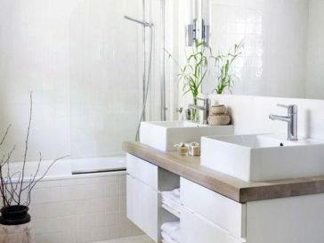Id e d coration salle de bain petits meubles et tag re for Decoration etagere salle de bain