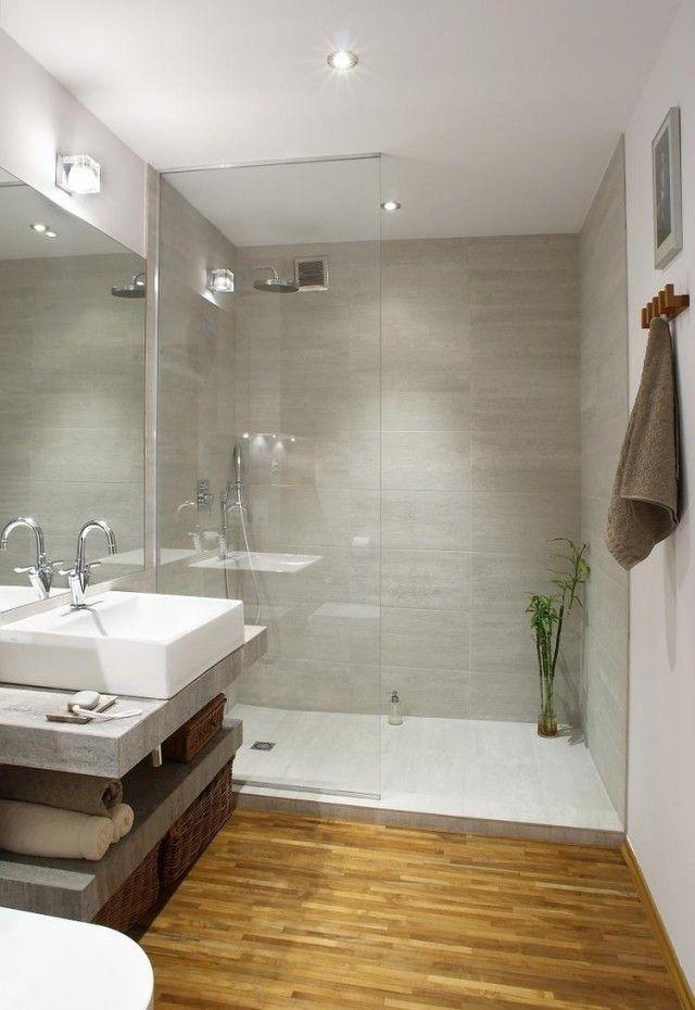 Id e d coration salle de bain am nagement salle de bain avec petite surface - Idee amenagement petite surface ...
