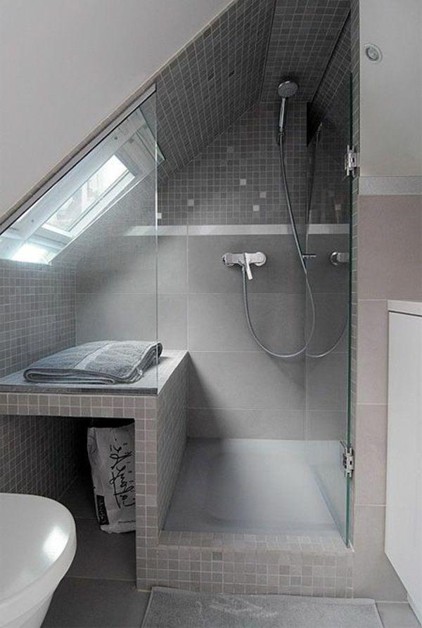 Id e d coration salle de bain la salle de bain sous for Baignoire sous pente de toit