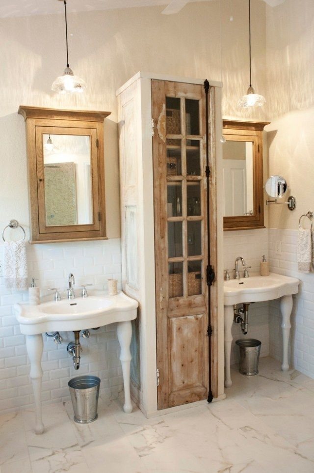 idée décoration salle de bain - lavabos sur pieds et meubles en ... - Salle De Bain Vintage