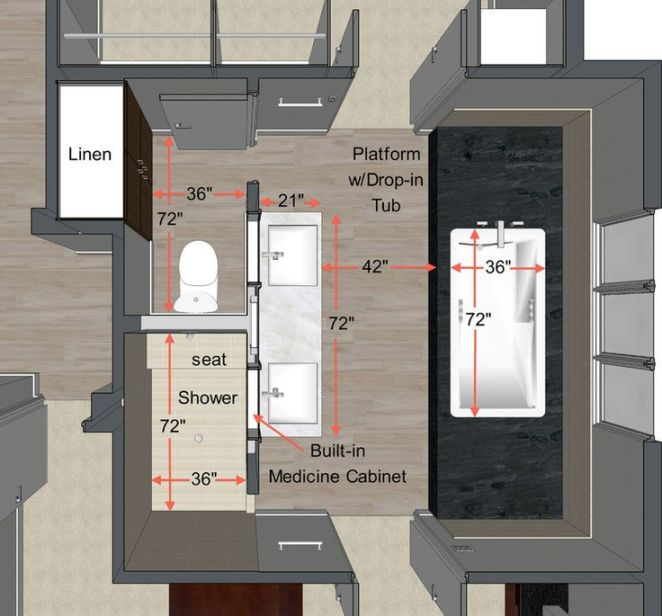 Idée Décoration Salle De Bain - Plan Salle De Bains