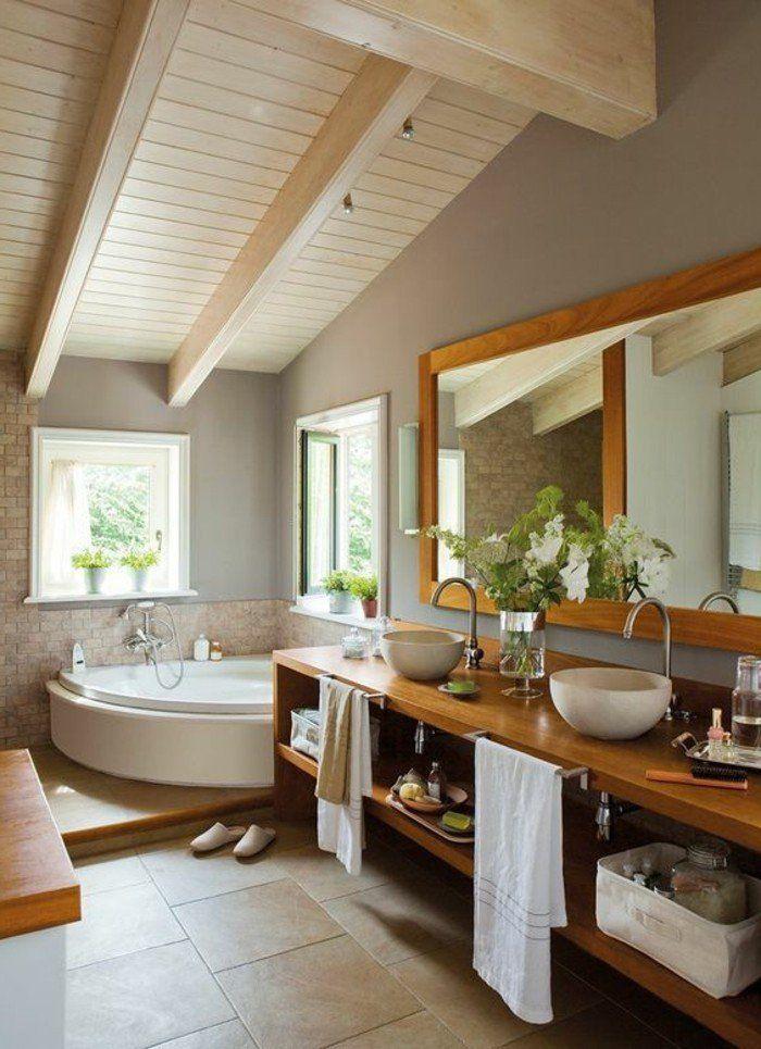 ide dcoration salle de bain salle de bain zen sous pente idees deco salle de bain - Idee Amenagement Salle De Bain Sous Comble