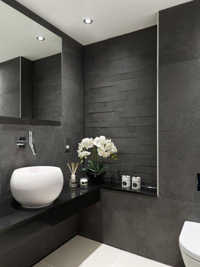 Idée décoration Salle de bain textures tendance salle de bains