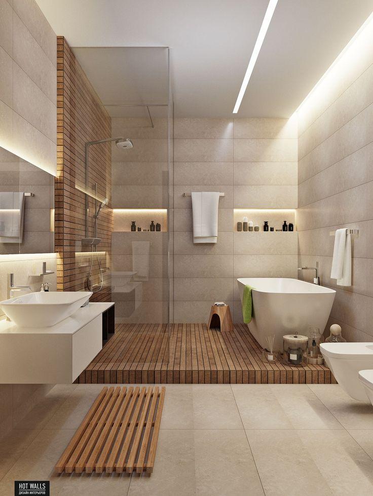 Id e d coration salle de bain un m lange de solid - Surface salle de bain ...