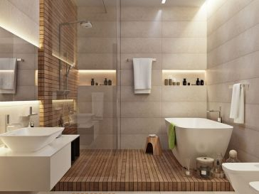 Id e d coration salle de bain salle de bain blanc for Decoration salle de bain