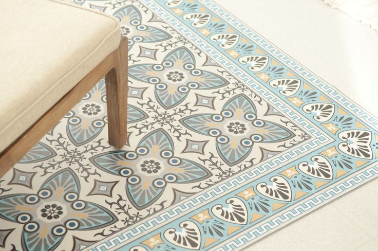 Tapis lino imitation carreaux de ciment latest tapis beija flor flor de lys with tapis lino - Tapis lino carreaux de ciment ...