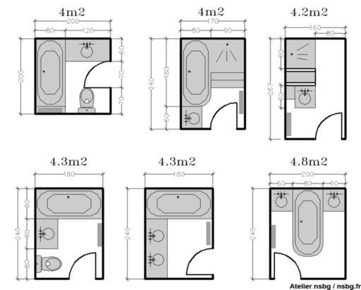 id e d coration salle de bain les salles de bains de taille moyenne 4 5 6 m studio d. Black Bedroom Furniture Sets. Home Design Ideas