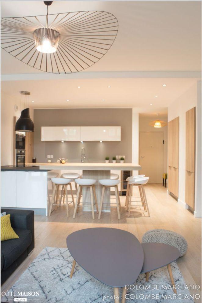 d co salon une d coration pur e et un look scandinave dans des tons de gris vert d. Black Bedroom Furniture Sets. Home Design Ideas