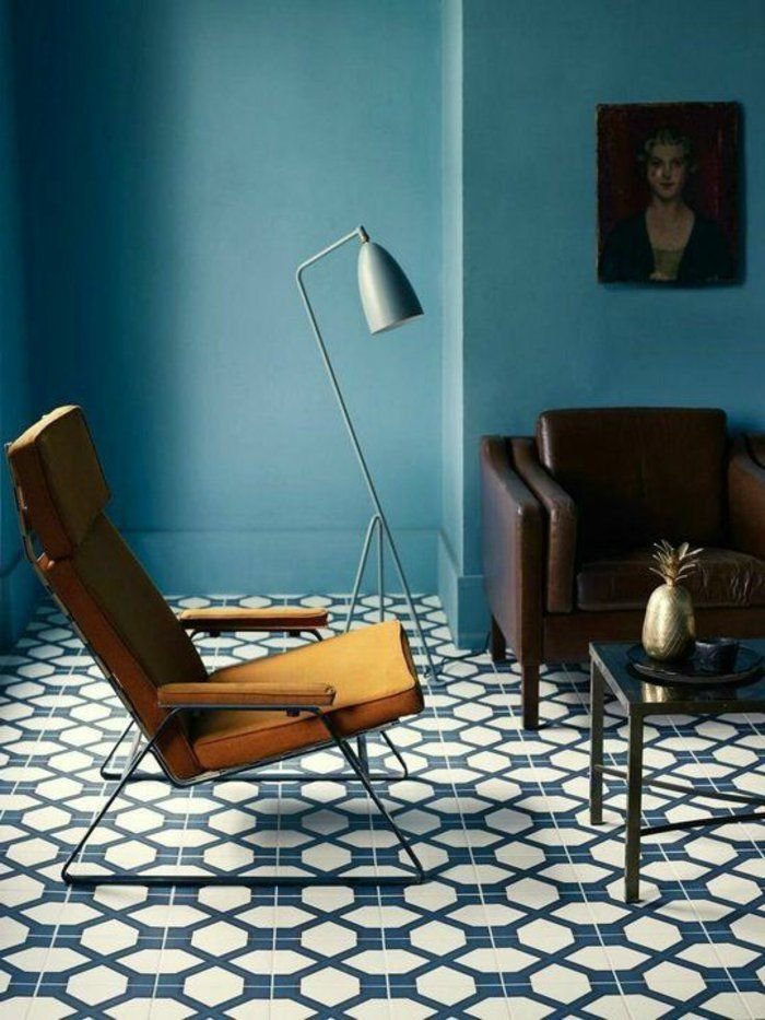 Déco Salon - couleur-canard-salon-couleur-bleu-chaise-moutarde ...
