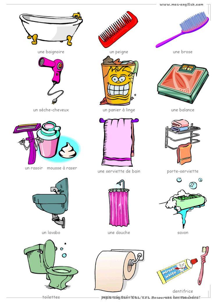 id e d coration salle de bain la salle de bains vocabulaire objets de la salle de bains. Black Bedroom Furniture Sets. Home Design Ideas