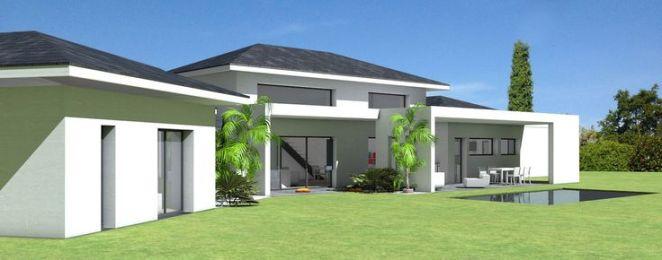 id e relooking cuisine maison contemporaine toit ardoises et grande terrasse couverte. Black Bedroom Furniture Sets. Home Design Ideas