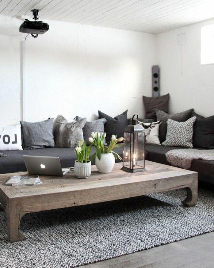 D co salon idee deco salon exceptionnelle couleur - Idee deco salon noir gris blanc ...