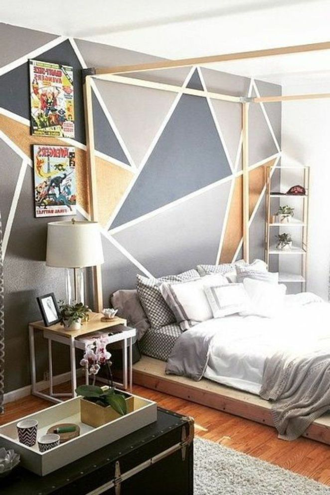 d co salon peinture acrylique mur chambre coucher