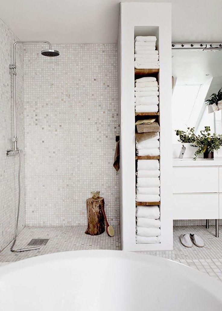 idée décoration salle de bain - douche italienne - marie claire ... - Idees Salle De Bain Douche Italienne