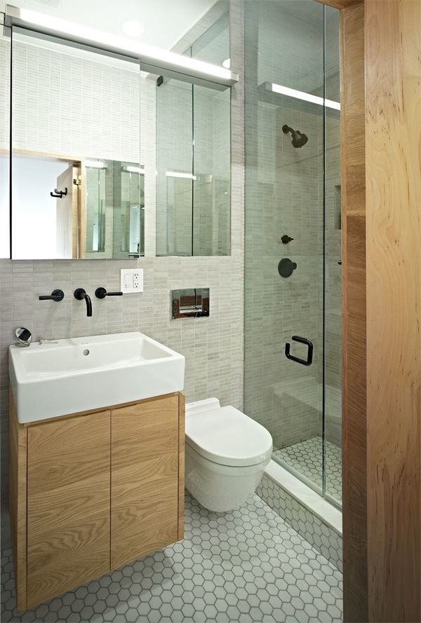idée décoration salle de bain - petite salle de bain moderne avec ... - Salle De Bain Moderne Photo