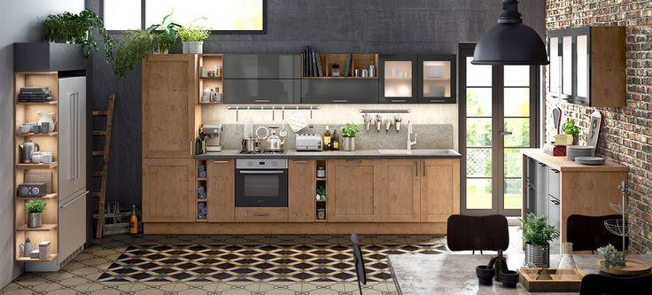 Idée relooking cuisine - Une cuisine vintage au confort moderne La ...