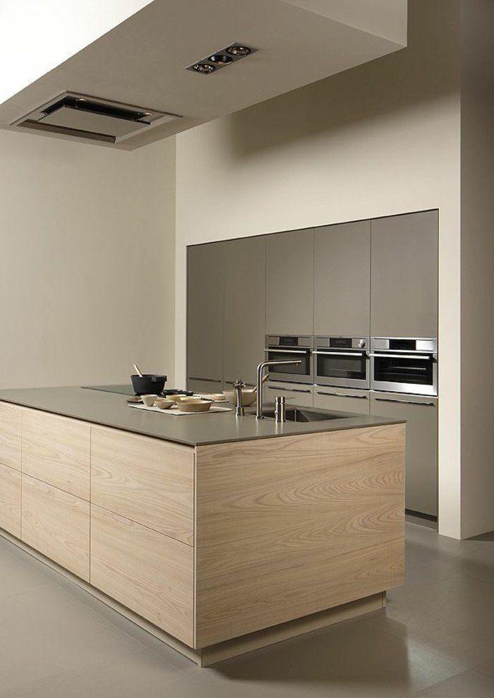 Déco Salon - bar de cuisine en bois clair , comment avoir une ...