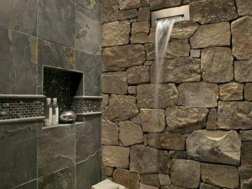 Idée décoration Salle de bain - Sol en galets dans la douche ...