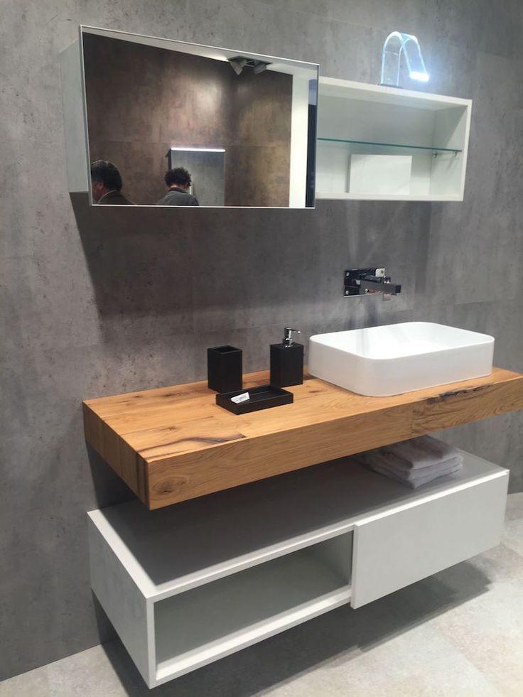 Id e d coration salle de bain plan de travail de salle for Plan de travail salle de bain bois