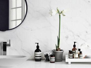 Id e d coration salle de bain why behr blues are my - Idees deco de salle de bain au style tropical ...