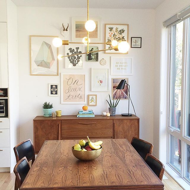 Modern Dining Room Design Midcentury Gallery Wall Wal
