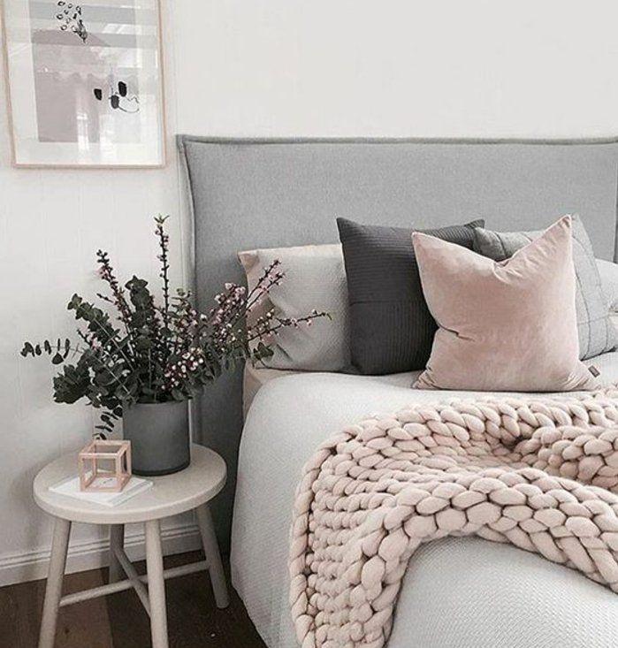 chambre blanche et rose gold