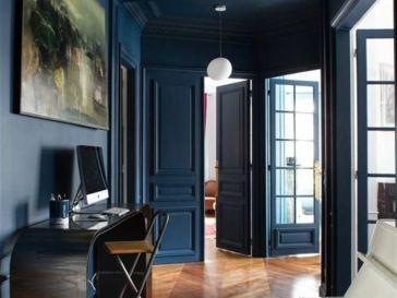 d co salon un int rieur scandinave bleu gris id e mur bleu gris. Black Bedroom Furniture Sets. Home Design Ideas
