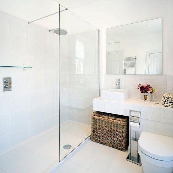 Id e d coration salle de bain une petite salle de bain for Deco salle de bain blanche