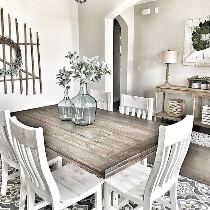Salle A Manger Rustic Farmhouse Dining Room Furniture And Decor Ideas 60