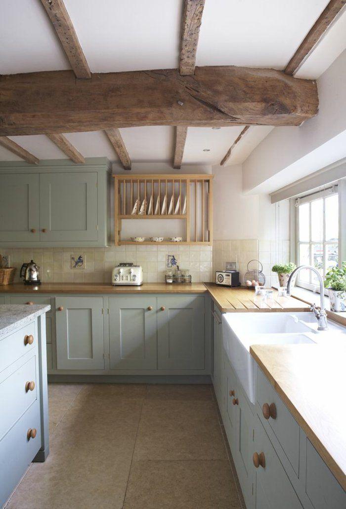 D co salon poutre en bois massif pour la cuisine moderne for Cuisine moderne en bois massif