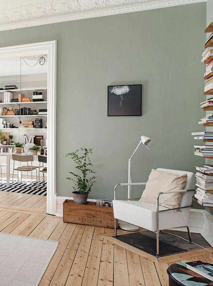 Dco Salon Peinture Acrylique Mur Salon Ouvert Sur