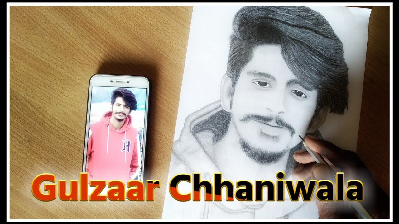 gulzar song-Gulzaar chhaniwala | Draw hyper reallstick sketch very easy step by step | Hello drawing-gulzar chhaniwala song